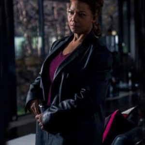Robyn McCall TV Series The Equalizer 2021 Queen Latifah Black Leather Coat