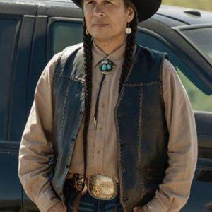 TV Series Yellowstone S04 Mo Brings Plenty Leather Vest