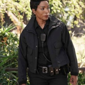 Angela Bassett TV Series 9-1-1 Black Cotton Athena Grant Jacket