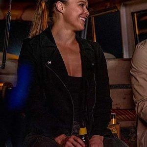 Lena Bosko TV Series 9-1-1 Ronda Rousey Black Leather Jacket