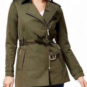 Madchen Amick TV Series Riverdale S05 Alice Cooper Belted Green Jacket