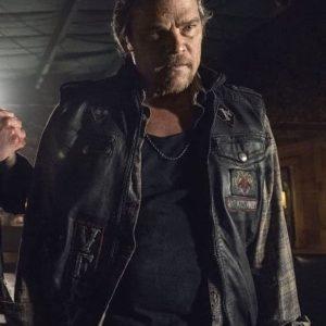 Baxter TV Series The Walking Dead S10 Rodney Rowland Leather Vest