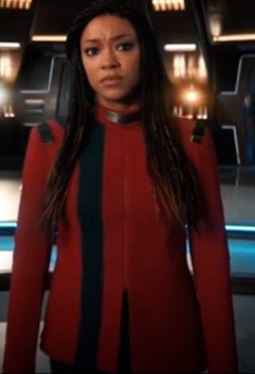 Michael Burnham TV Series Star Trek Discovery Season 4 Sonequa Martin Red Jacket
