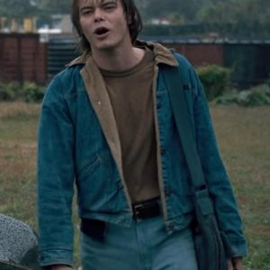Charlie Heaton Stranger Things Blue Denim Jonathan Byers Jacket