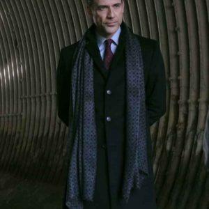 Adam Rayner Superman and Lois Morgan Edge Black Mid-Length Coat