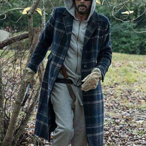 Negan The Walking Dead S10 Jeffrey Dean Morgan Plaid Coat