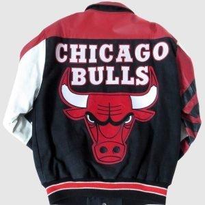 Chicago Bulls Leather Jacket Vintage 90's NBA STARTER Jacket