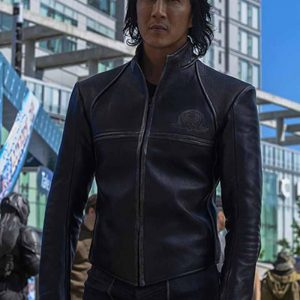 Will Yun Lee Altered Carbon S02 Black Distressed Leather Jacket