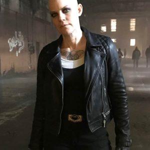 Stephanie Czajkowski Doom Patrol Season 02 Hammerhead Black Leather Jacket