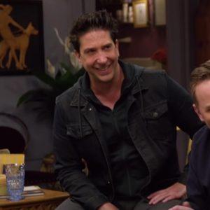 TV Series Friends The Reunion David Schwimmer Black Cotton Jacket