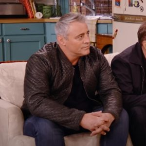 TV Series Friends The Reunion 2021 Matt LeBlanc Brown Quilted Leather Jacket