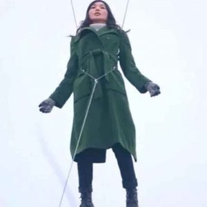Eternals 2021 Sersi Green Wool-blend Gemma Chan Coat
