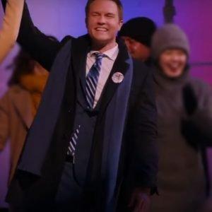 Mayor Paul Randolph Ginny & Georgia (2021) Black Mid-Length Coat