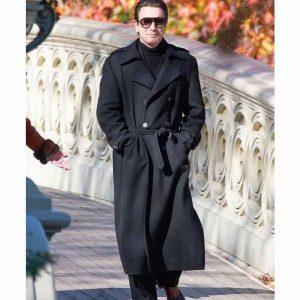 Ewan McGregor Halston 2021 Black Double-breasted Coat