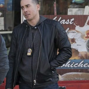 Kirk Acevedo Law and Order: Special Victims Unit Det. Ray Lopez Black Leather Jacket