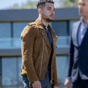 Nick Creegan Law and Order: Organized Crime Suede Leather Jacket