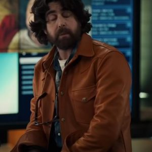 Harry Keshegian TV Series The Equalizer Ep07 Adam Goldberg Brown Leather Jacket