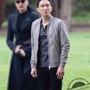Justin H. Min TV Series The Umbrella Academy S03 Ben Hargreeves Grey Bomber Jacket