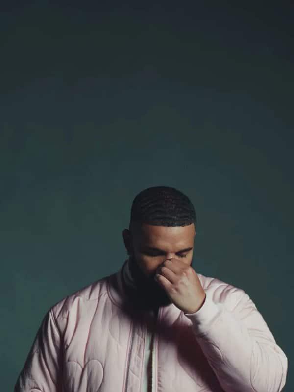 Drake Pink Bomber Jacket  