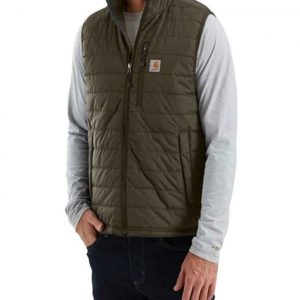 Michael Rapaport Atypical S03 Khaki Green Puffer Vest