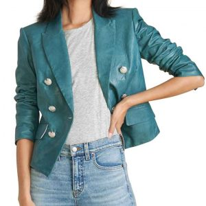 Meagan Tandy Batwoman Season 2 Blue Leather Jacket