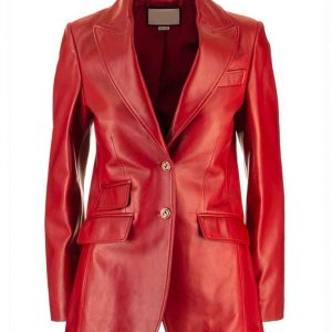 Elizabeth Gillies Dynasty S04 Fallon Carrington Red Leather Jacket