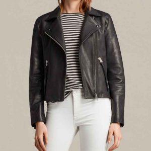 Alicia Clark TV Series Fear The Walking Dead S06 Black Leather Jacket