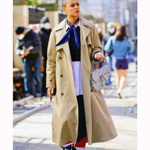 Jordan Alexander Gossip Girl 2021 Long Cotton Coat