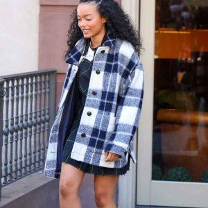 Whitney Peak Gossip Girl 2021 Zoya Lott Flannel Jacket