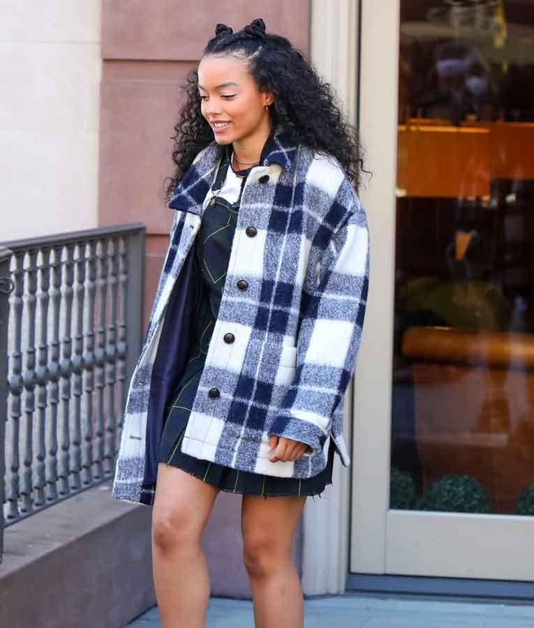 Gossip Girl Zoya Lott Flannel Jacket   Whitney Peak Gossip Girl Plaid Jacket