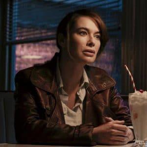 Lena Headey Gunpowder Milkshake Scarlet Brown Leather Jacket