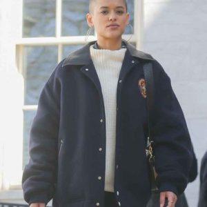 Julien Calloway Gossip Girl 2021 Oversize Blue Bomber Jacket