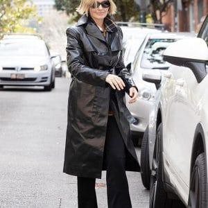 Birthday Bash Lara Bingle Leather Coat