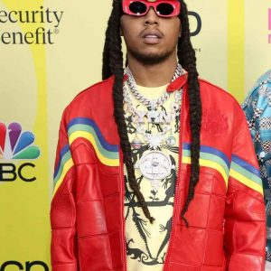 Takeoff Migos Culture III Red Leather Jacket