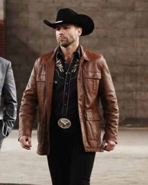 Aurelio Casillas Queen Of The South S05 Brown Leather Jacket