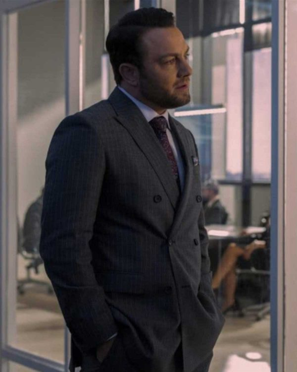 Jonathan Sadowski TV Series Sex/Life 2021 Grey Suit