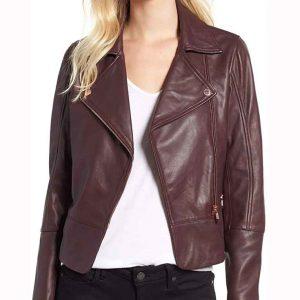 Superman & Lois Leslie Larr Jacket LESLIE Purple Leather Jacket