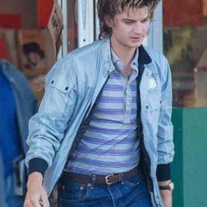 Steve Harrington Stranger Things S04 Blue Bomber Jacket