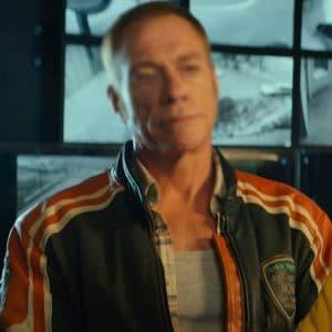 Jean-Claude Van Damme The Last Mercenary Black & Orange Biker Jacket