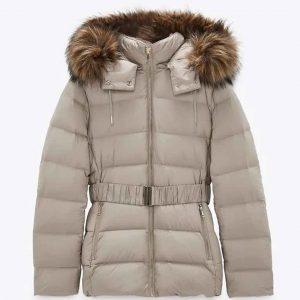 Landry Bender The Republic of Sarah Puffer Jacket With Fur Hood