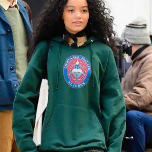 Zoya Lott Gossip Girl 2021 Whitney Peak Green Hoodie