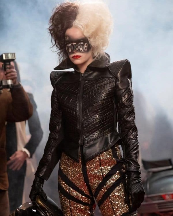 Emma Stone Leather Jacket | Cruella de Vil Leather JacketEmma Stone Leather Jacket | Cruella de Vil Leather Jacket