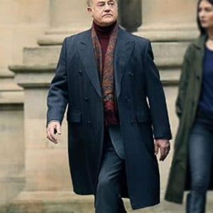 Owen Teale Double-Breasted A Discovery Of Witches Black Trench Coat