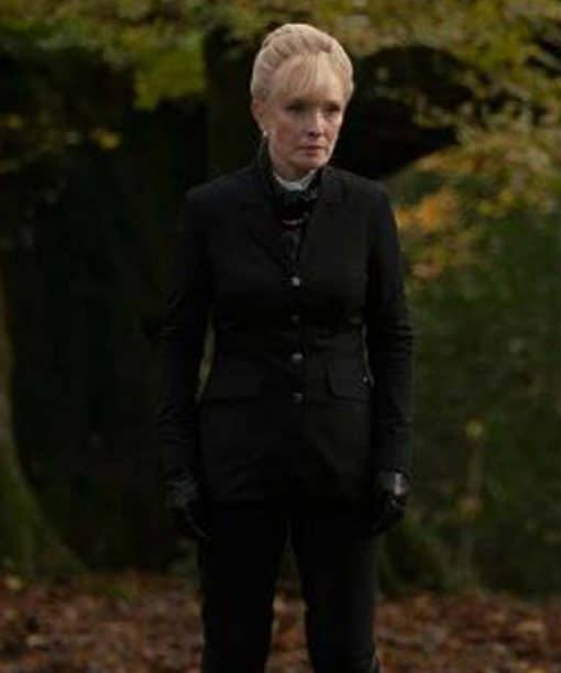 Lindsay Duncan A Discovery Of Witches Black Cotton Coat