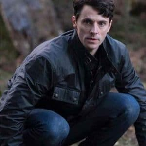 TV Series A Discovery of Witches Matthew Goode Black Leather Jacket