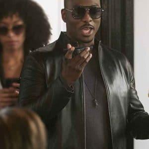 B.J. Britt TV Series A Million Little Things Isaac Martin Black Leather Jacket