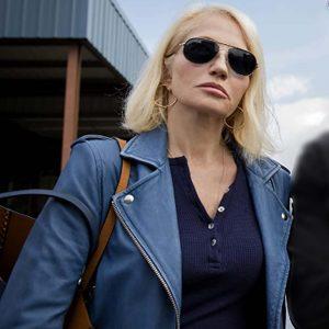 Janine Cody TV Series Animal Kingdom Blue Leather Jacket