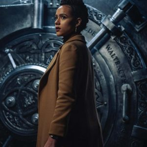 Nathalie Emmanuel Army of Thieves 2021 Brown Trench Coat