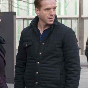 Damian Lewis Black Cotton TV Series Billions S02 Jacket