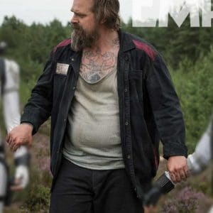 David Harbour Black Widow 2021 Alexei Shostakov Black Jacket